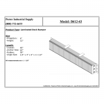 B612-63 Loading Dock Bumper