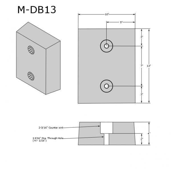 M-DB13 Molded Dock Bumper